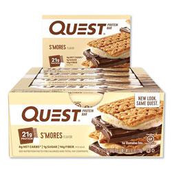 Quest Protein Bars, S'mores, 2.12 oz Bar, 12 Bars/Box