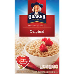 Quaker Foods Instant Oatmeal, 10 Packets/BX, Original