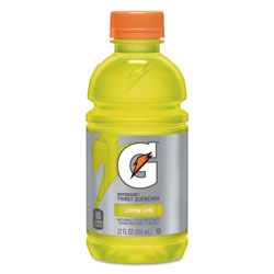 Gatorade G-Series Perform 02 Thirst Quencher, Lemon-Lime, 12 oz Bottle, 24/Carton
