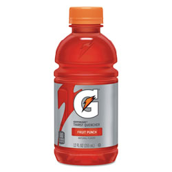 Gatorade G-Series Perform 02 Thirst Quencher, Fruit Punch, 12 oz Bottle, 24/Carton