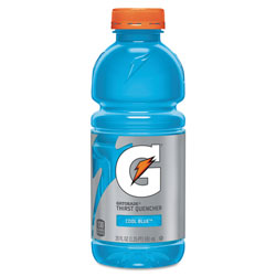 Gatorade G-Series Perform 02 Thirst Quencher, Cool Blue, 20 oz Bottle, 24/Carton
