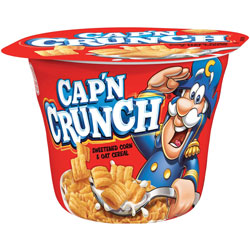Quaker Foods Capn Crunch Corn/Oat Cereal Bowl, 1.51oz., 12/CT, Multi