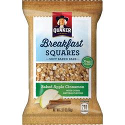 Quaker Foods Breakfast Squares, Baked Apple Cinnamon, 2.11 oz., 6/BX