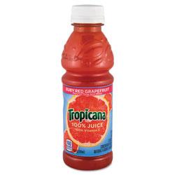 Tropicana® 100% Juice, Ruby Red Grapefruit, 10oz Bottle, 24/Carton
