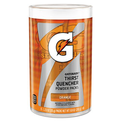Gatorade Thirst Quencher Powder Drink Mix, Orange, 1.34oz Stick, Makes 20oz Drink, 64/Carton