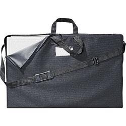 Quartet® Tabletop Display Carrying Case, Canvas, 18 1/2w x 2 3/4d x 30h, Black