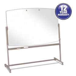 Quartet® Total Erase Reversible Mobile Easel, 72 x 48, White Surface, Neutral Frame