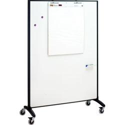 Quartet® Motion Marker & Bulletin Room Divider, 6 ft. x 4 ft.