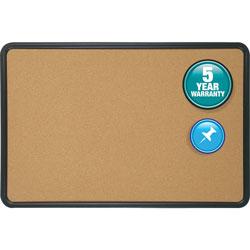 "Quartet® Bulletin Boards, with Plastic Frame, 3'x2'"", Natural Cork"