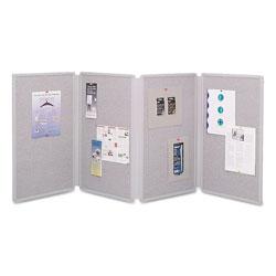 Quartet® Tabletop Display Presentation Board, 72 x 30, Gray Surface, Gray Frame