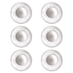 Quartet® Glass Magnets, Large, 0.45 in dia, Clear, 6/Pack