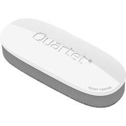 Quartet Dry-Erase Board Eraser, Standard, 2 inWx5 inL, White/Silver