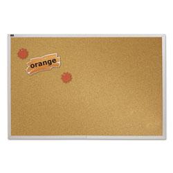 Quartet® Natural Cork Bulletin Board, 72 x 48, Anodized Aluminum Frame