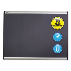 Quartet® Prestige Plus Magnetic Fabric Bulletin Board, 48 x 36, Aluminum Frame