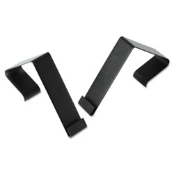 Quartet® Cubicle Partition Hangers, 1 1/2 in - 2 1/2 in Panels, Black, 2/Set