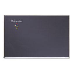 Quartet® Porcelain Black Chalkboard with Aluminum Frame, 48 x 96, Silver