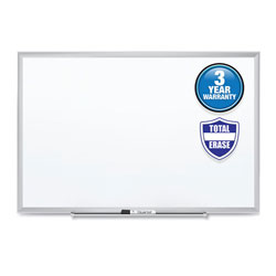 Quartet® Classic Series Total Erase Dry Erase Board, 24 x 18, Silver Aluminum Frame