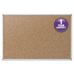 Quartet® Cork Bulletin Board, 48 x 36, Silver Aluminum Frame