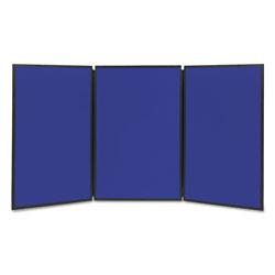 Quartet® Show-It! Display System, 72 x 36, Blue/Gray Surface, Black Frame