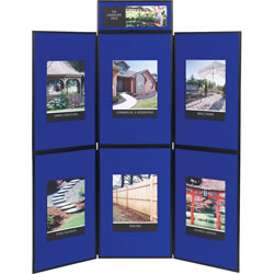 Quartet® Show-It! Display System, 72 x 72, Blue/Gray Surface, Black Frame