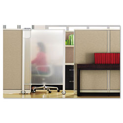 Quartet® Premium Workstation Privacy Screen, 38w x 64d, Translucent Clear/Silver