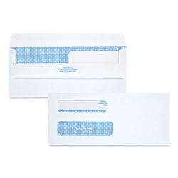 Quality Park Double Window Redi-Seal Security-Tinted Envelope, #8 5/8, Commercial Flap, Redi-Seal Closure, 3.63 x 8.63, White, 250/Carton