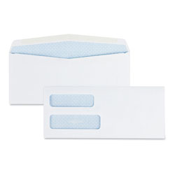 Quality Park Double Window Security-Tinted Check Envelope, #10, Commercial Flap, Gummed Closure, 4.13 x 9.5, White, 500/Box