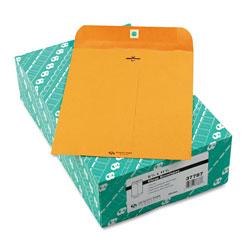 Quality Park Clasp Envelope, #87, Cheese Blade Flap, Clasp/Gummed Closure, 8.75 x 11.5, Brown Kraft, 100/Box