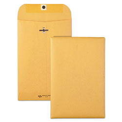Quality Park Clasp Envelope, #55, Cheese Blade Flap, Clasp/Gummed Closure, 6 x 9, Brown Kraft, 100/Box