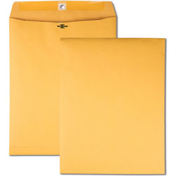 Quality Park Clasp Envelopes, Hi-Bulk, 10 in x 13 in, 100/BX, Kraft
