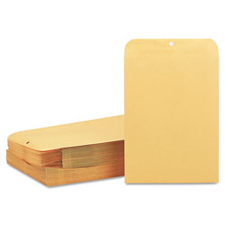 Quality Park Clasp Envelope, #97, Cheese Blade Flap, Clasp/Gummed Closure, 10 x 13, Brown Kraft, 100/Box