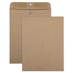 Quality Park Brown Kraft Clasp Envelope, #90, Cheese Blade Flap, Clasp/Gummed Closure, 9 x 12, Brown Kraft, 100/Box