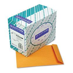 Quality Park Catalog Envelope, #13 1/2, Cheese Blade Flap, Gummed Closure, 10 x 13, Brown Kraft, 250/Box