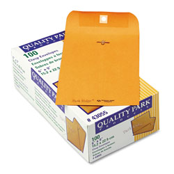 Quality Park Park Ridge Kraft Clasp Envelope, #55, Cheese Blade Flap, Clasp/Gummed Closure, 6 x 9, Brown Kraft, 100/Box