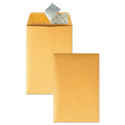 Quality Park Redi-Strip Catalog Envelope, #1, Cheese Blade Flap, Redi-Strip Closure, 6 x 9, Brown Kraft, 100/Box