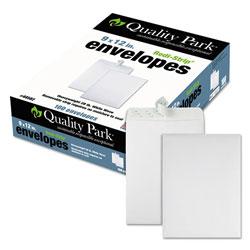 Quality Park Redi-Strip Catalog Envelope, #10 1/2, Cheese Blade Flap, Redi-Strip Closure, 9 x 12, White, 100/Box
