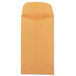 Quality Park Kraft Coin & Small Parts Envelope, #3, Square Flap, Gummed Closure, 2.5 x 4.25, Brown Kraft, 500/Box