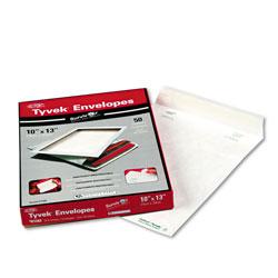 Quality Park Catalog Mailers, DuPont Tyvek, #13 1/2, Cheese Blade Flap, Redi-Strip Closure, 10 x 13, White, 50/Box