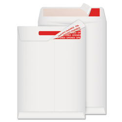 Quality Park Tamper-Indicating Mailers Made with Tyvek, #10 1/2, Redi-Strip Closure, 9 x 12, White, 100/Box