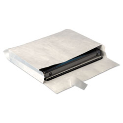 Quality Park Open End Expansion Mailers, DuPont Tyvek, #13 1/2, Cheese Blade Flap, Redi-Strip Closure, 10 x 13, White, 25/Box