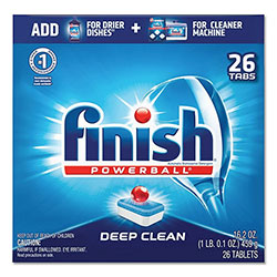 Finish® Powerball Dishwasher Tabs, Fresh Scent, 26/Box, 8 Boxes/Carton