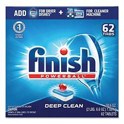 Finish® Powerball Dishwasher Tabs, Fresh Scent, 62/Box