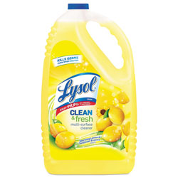 Lysol Clean and Fresh Multi-Surface Cleaner, Sparkling Lemon and Sunflower Essence, 144 oz Bottle, 4/Carton