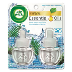 Air Wick Scented Oil Refill, Fresh Waters, 0.67 oz, 2/Pack