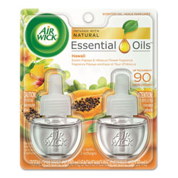 Air Wick Scented Oil Twin Refill, Hawai'i Exotic Papaya/Hibiscus Flower, 0.67 oz