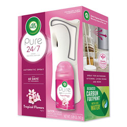 Air Wick Freshmatic Ultra Automatic Pure Starter Kit, 3.33 x 3.53 x 7.76, White, Tropical Flowers