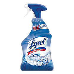 Lysol Disinfectant Bathroom Cleaners, Liquid, Island Breeze, 22 oz Trigger Spray Bottle, 6/Carton