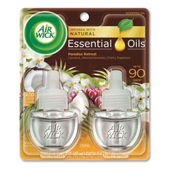 Air Wick Life Scents Scented Oil Refills, Paradise Retreat, 0.67 oz, 2/Pack