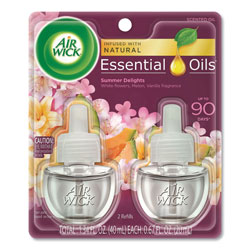 Air Wick Life Scents Scented Oil Refills, Summer Delights, 0.67 oz, 2/Pack
