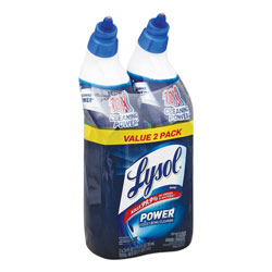 Lysol Disinfectant Toilet Bowl Cleaner, Wintergreen, 24oz Bottle, 2/Pack